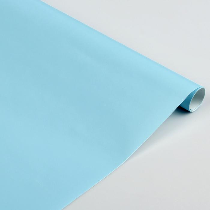 Бумага цветная Лакированная в рулоне 500*2000 мм Sadipal голубая 6168
