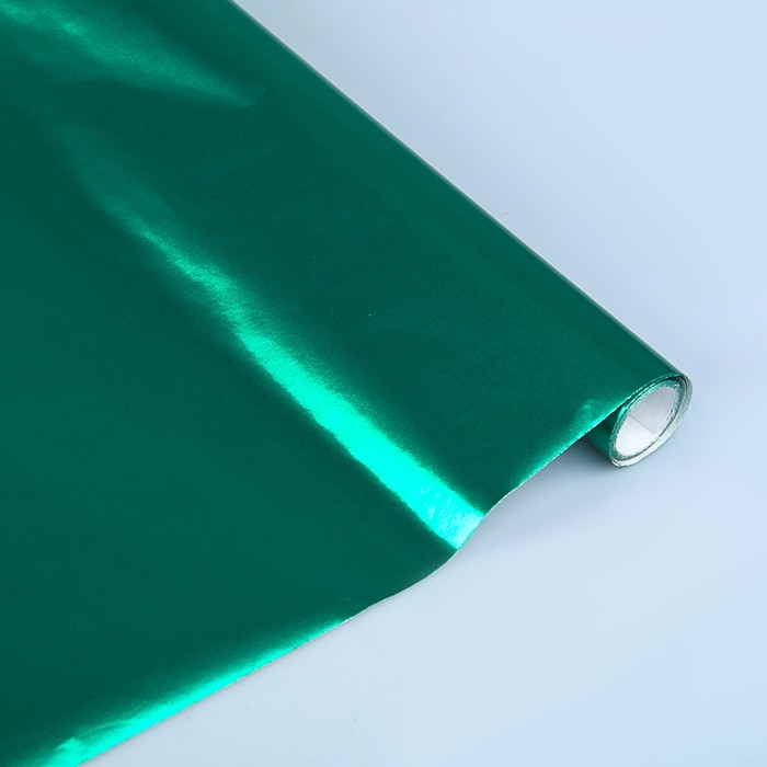 Бумага цветная Металлизированная в рулоне 1000*3000 мм Sadipal зеленый 12723