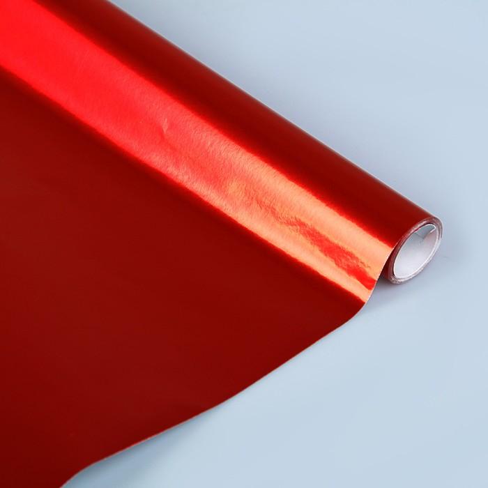Бумага цветная Металлизированная в рулоне 1000*3000 мм Sadipal красный 12721