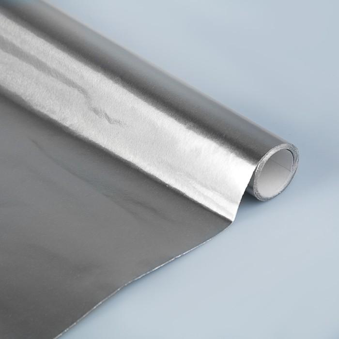 Бумага цветная Металлизированная в рулоне 1000*3000 мм Sadipal серебро 12724