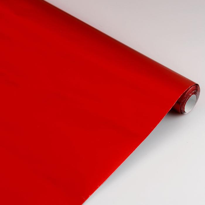Бумага цветная Металлизированная в рулоне 500*2000 мм Sadipal красный 12744