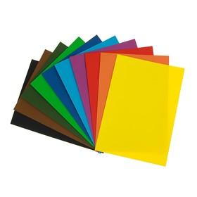 Картон цветной, двусторонний: текстурный/гладкий, 210 х 297 мм, Sadipal Fabriano Elle Erre, 220 г/м, НАБОР 10 листов, 10 цветов, яркие тона
