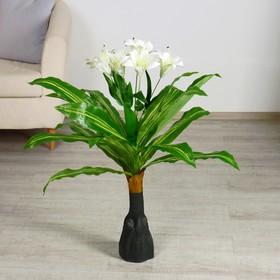 куст искусственный с цветком 90 см