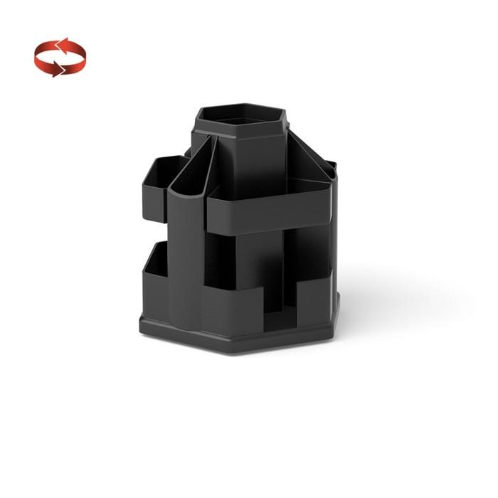 Настольная подставка-органайзер Erich Krause «Офисный», чёрная, без наполнения