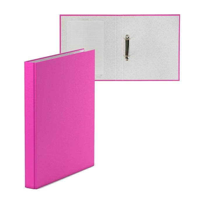 Папка на 2 кольцах, А4, Erich Krause Neon розовая, картон 1,75 мм, вместимость 250 листов, 35 мм