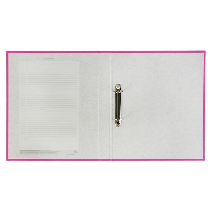 Папка на 2 кольцах, А4, Erich Krause Neon розовая, картон 1,75 мм, вместимость 250 листов, 35 мм - фото 408708600
