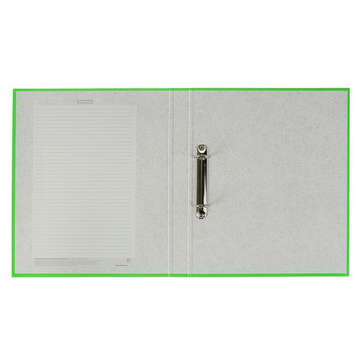 Папка на 2 кольцах А4, 35мм Erich Krause Neon салатовая, картон 1,75мм, вместимость 250 листов