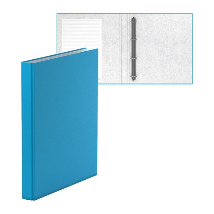 Папка-регистратор на 4 кольцах А4, 35мм Erich Krause Neon голубая, картон 1.75мм, вместимость 250 листов