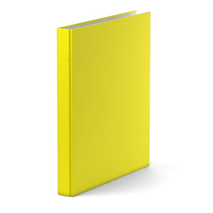 Папка-регистратор на 4 кольцах, А4, 35 мм, Erich Krause Neon, жёлтая, картон 1.75 мм, вместимость 250 листов - фото 448831643