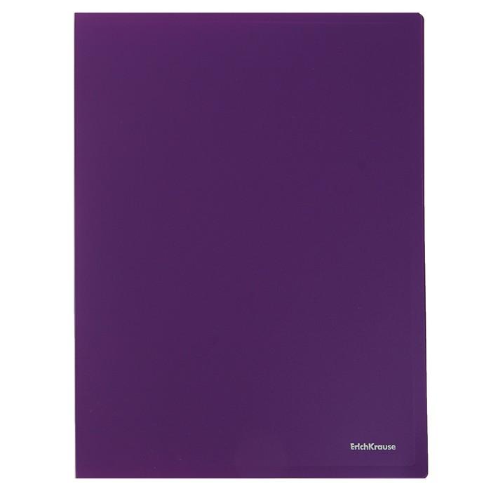 Папка с боковым зажимом A4 Erich Krause CLASSIC, фиолетовая, корешок 17мм, толщина 500мкм, вместимость 100 листов