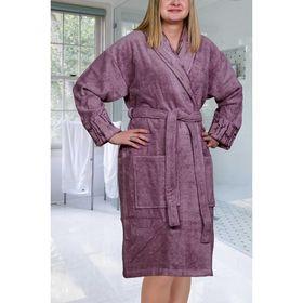 Махровый халат Eliza, размер S, цвет тёмно-фиолетовый