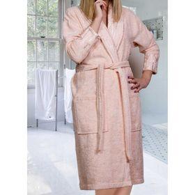 Махровый халат Eliza, размер L, цвет персиковый