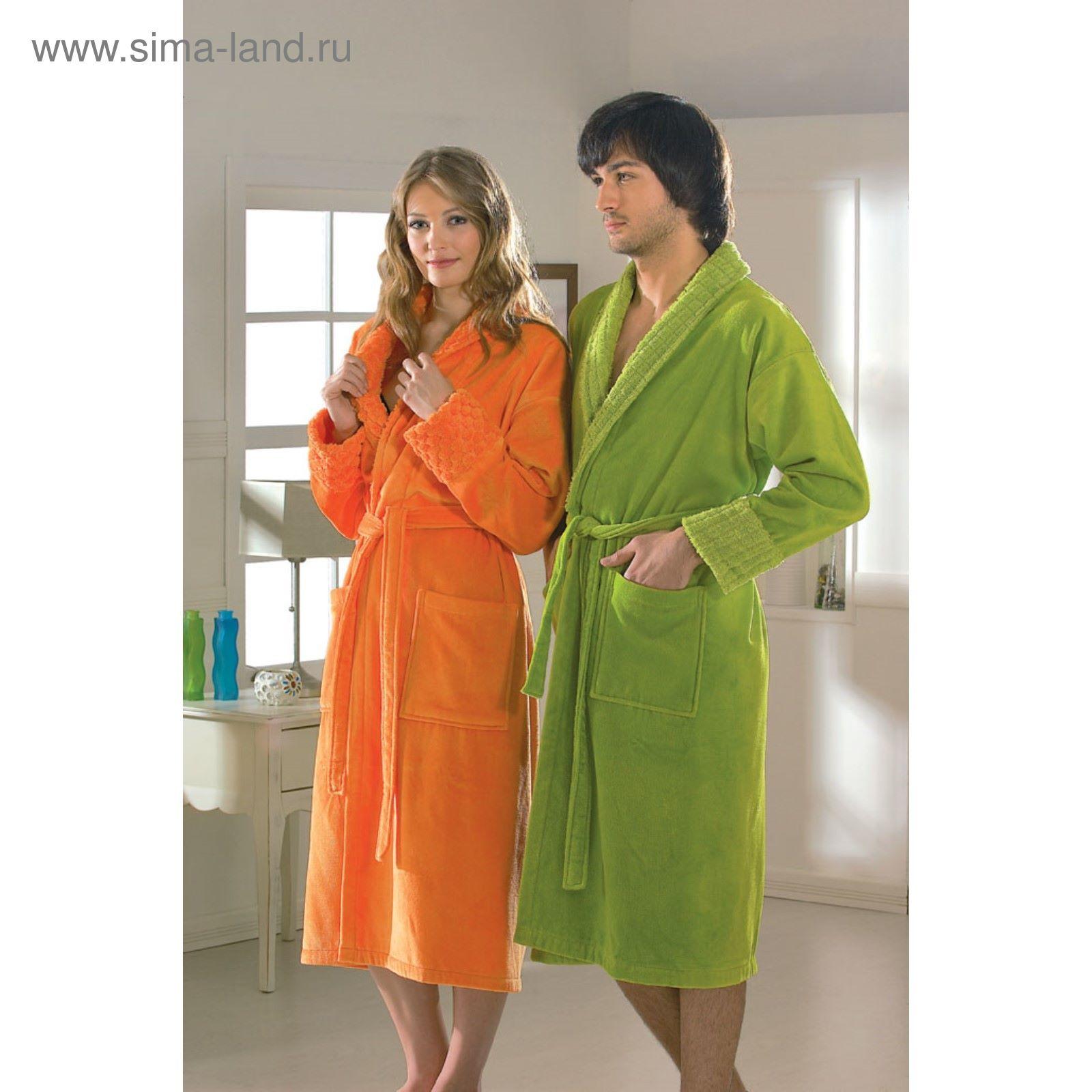 71e287cdd899e Махровый халат Angora, размер L, оранжевый (2643756) - Купить по ...