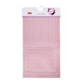 Коврики для ванной Chequers, размер 40х60, 50х90, 60х100, цвет пудра