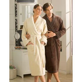 Махровый халат Angora, размер L, цвет коричневый