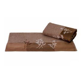 Полотенце Flora, размер 70 × 140 см, коричневый