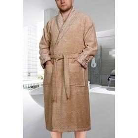 Махровый халат Eliza, размер XL, цвет бежевый