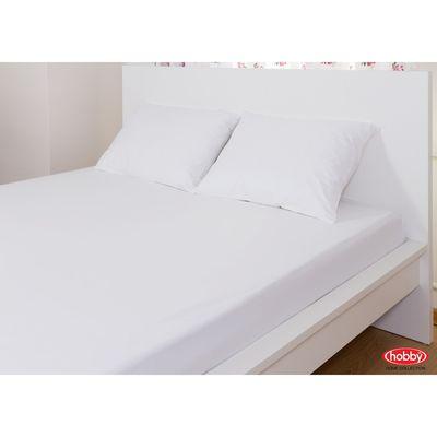 Набор простыня на резинке 100x200 см и наволочки 50x70 2 шт, цвет белый