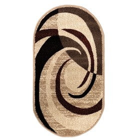 Ковёр Кашемир 50118/55 овал, размер 60х110 см, ворс 8мм, 1890 г/м2,100% ПП