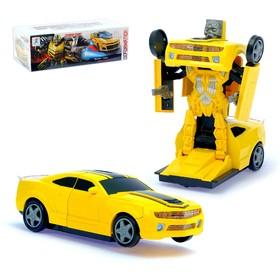Машина-трансформер «Автобот», световые и звуковые эффекты, работает от батареек