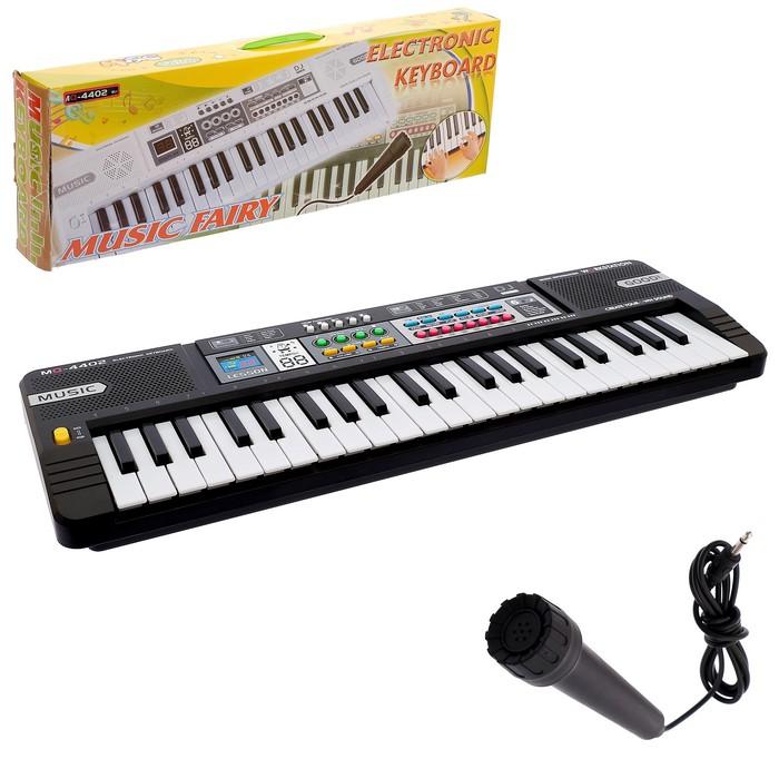 Синтезатор «Юный музыкант», 44 клавиши, цвет чёрно-серый