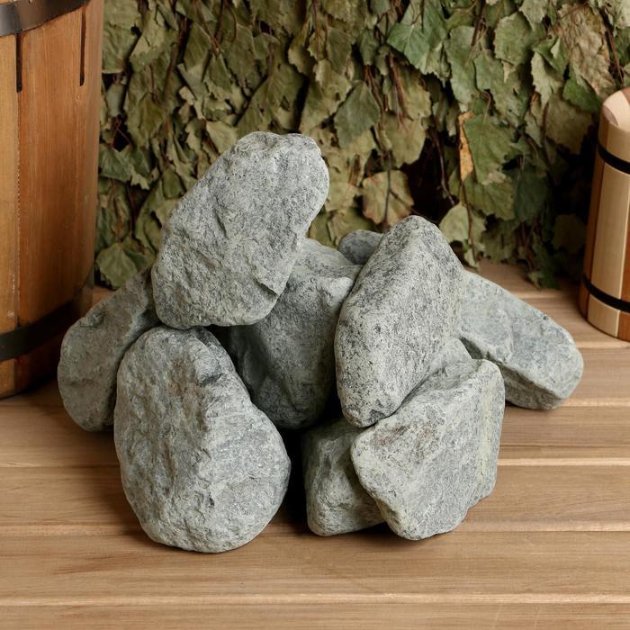 """Камень для бани """"Родингит"""" обвалованный, коробка 20кг, фракция 60-150мм"""