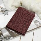 Обложка для паспорта Textura, 5 карманов для карт, кайман бордо