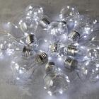 """УЦЕНКА Гирлянда """"Лампочки"""" 3 м, 10 пластиковых лампочек, LED-100-12V, БЕЛЫЙ"""