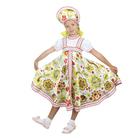 """Русский народный костюм """"Хохлома"""", платье, кокошник, цвет белый, р-р 36, рост 140 см"""