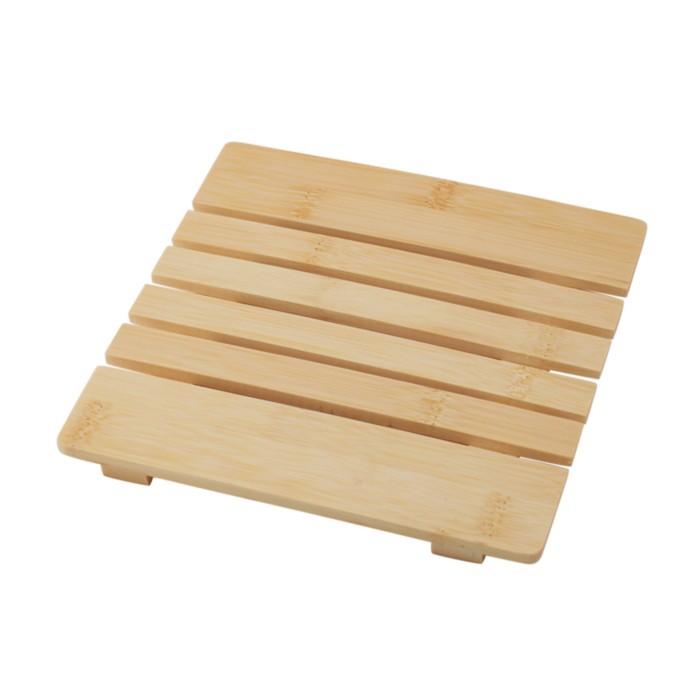 Подставка под горячее, бамбук, размер 18 х 18 х 1,2 см