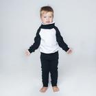 Спортивный костюм для мальчика (толстовка, брюки), рост 104 см, цвет черно-белый ОЕ-103