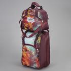 """Чемодан малый 20"""" с сумкой, отдел на молнии, наружный карман, с расширением, цвет бордовый"""