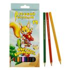 """Карандаши 12 цветов """"Русский карандаш. Лиса"""", шестигранные, ok 6.4мм"""