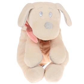 Мягкая игрушка «Собака», цвет белый/розовый, 30 см