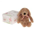 """Мягкая игрушка """"Собака"""", цвет светло-коричневый/розовый, 40 см"""