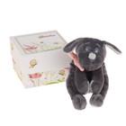 """Мягкая игрушка """"Собака"""", цвет серый/розовый, 15 см"""