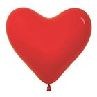 """Шар латексный 12"""" """"Сердце"""", пастель, набор 50 шт., цвет красный"""