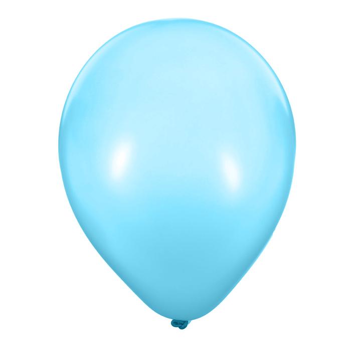 """Шары латексные 12"""", металл, набор 50 шт., 3,3 г, цвет голубой"""