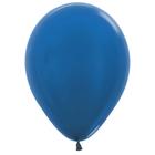 """Шары латексные 12"""", металл, набор 50 шт., 3,3 г, цвет синий"""
