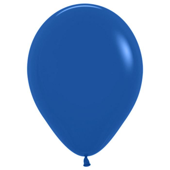 """Шар латексный 12"""", пастель, набор 50 шт., 3,3 г, цвет синий - фото 308469183"""