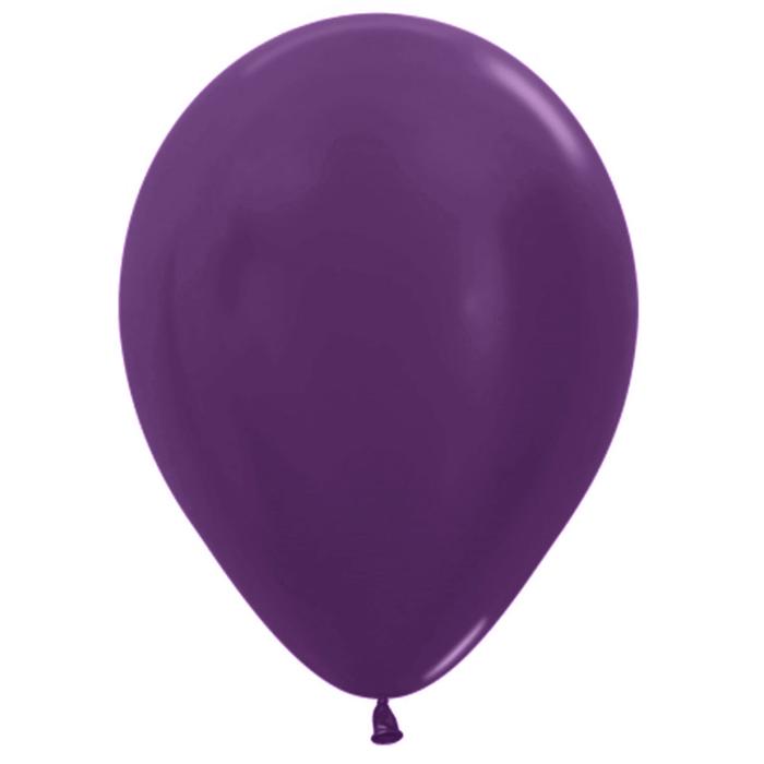 """Шар латексный 12"""", пастель, набор 50 шт., 3,3 г, цвет фиолетовый - фото 308467936"""