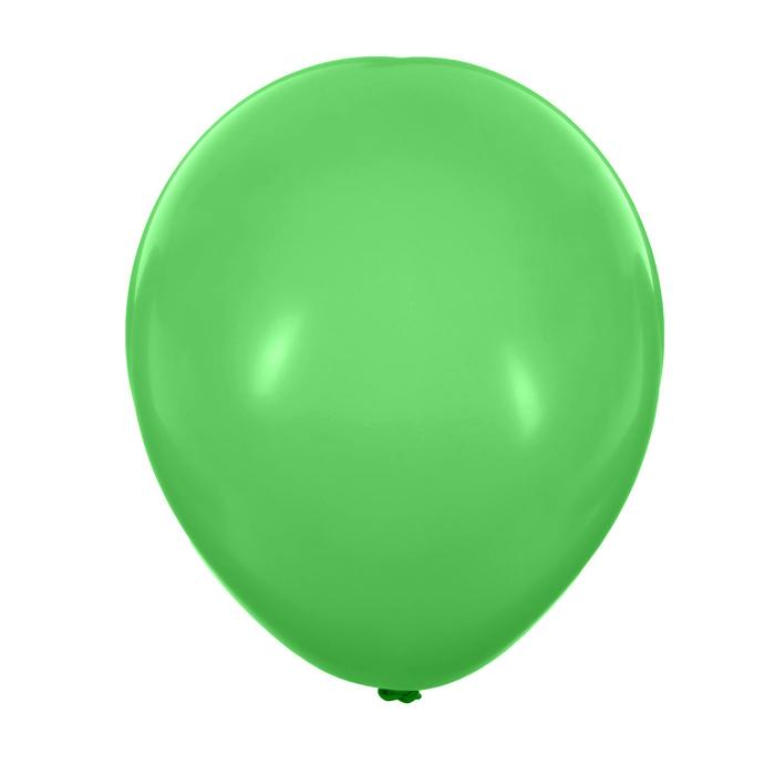 """Шар латексный 12"""", пастель, набор 25 шт., 3,3 г, цвет светло-зелёный"""