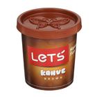 Тесто для лепки 150 гр, крышка-форма, цвет коричневый