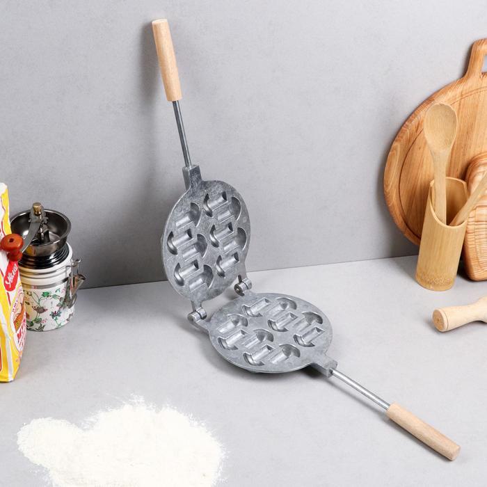 """Форма для выпечки печенья """"Грибочки"""", с деревянными ручками"""