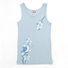 Майка для девочки, рост 98-104 см, цвет голубой