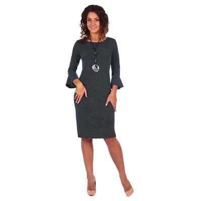 Платье женское Сесилия цвет серый, р-р 48