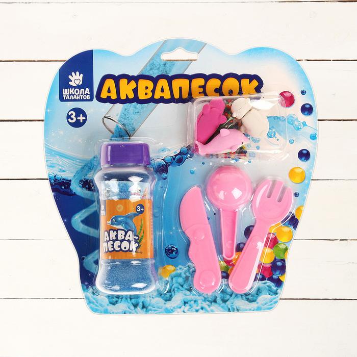 """Аквапесок """"Северный полюс"""", набор: песок 100 г, игрушки, гидрогель 15 г, лопатки"""