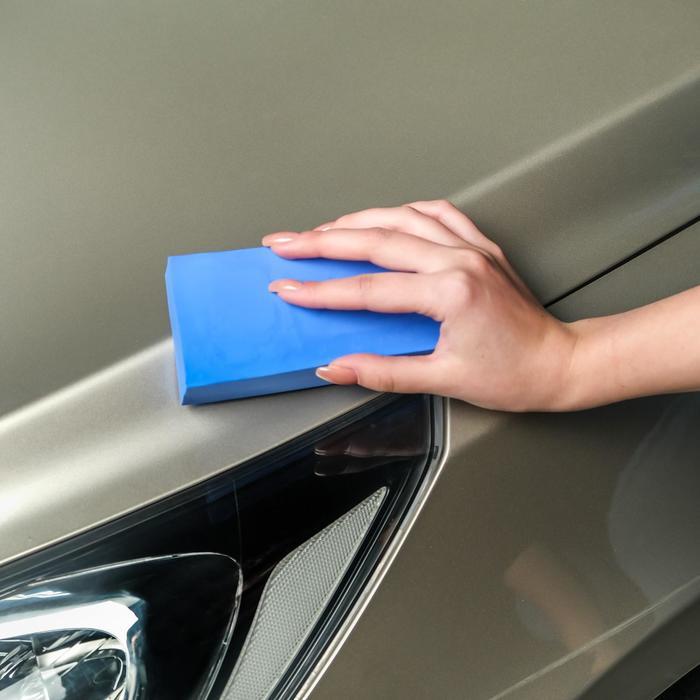 Губка для мытья авто TORSO, 17×7 см, влаговпитывающая, микс