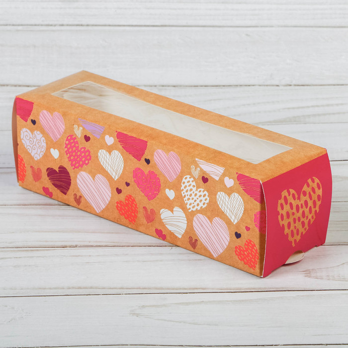 Коробочка для макарун «Моя тебе любовь», 18 х 5,5 х 5,5 см - фото 151707438