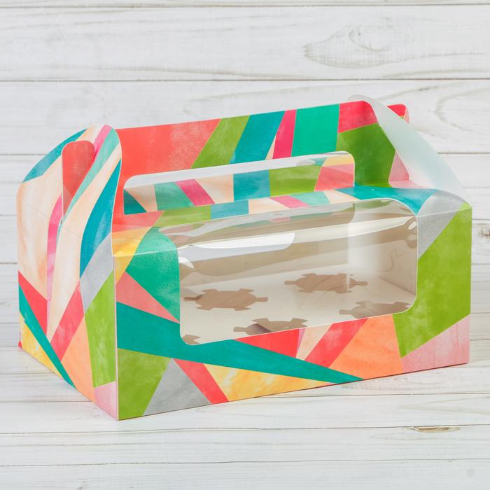 Коробочка для кексов «Отличного дня», 24 × 16 × 10 см - фото 145819351